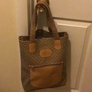 Gucci vintage Classic large shopping tote handbag
